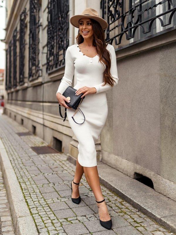 Sukienka Monetta Kremowa