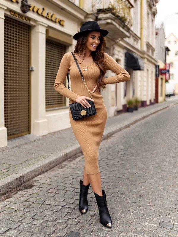 Sukienka Monetta Karmelowa