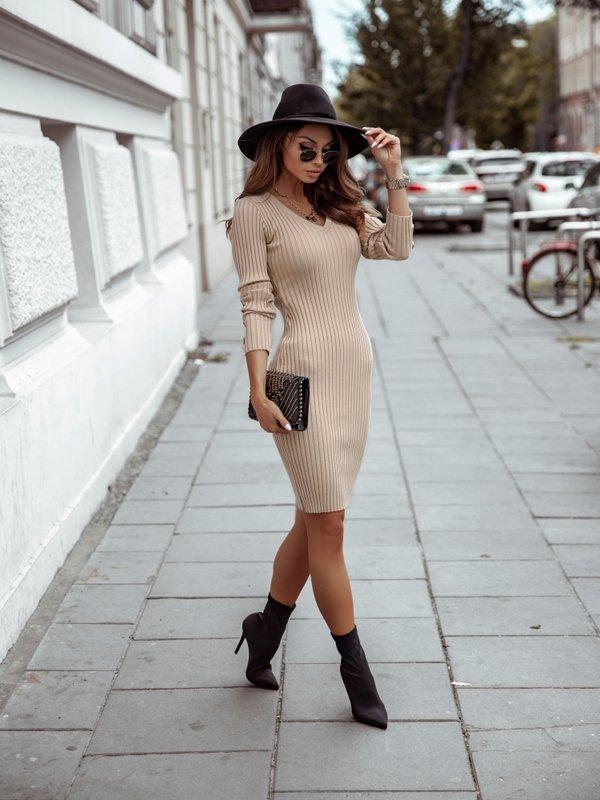 Sukienka Hazel Beżowa