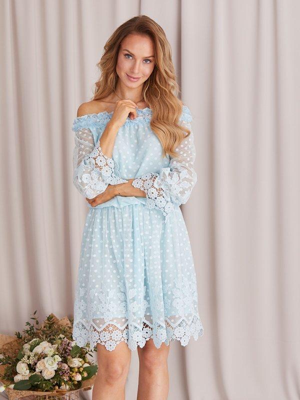 Sukienka Remedia Błękitna