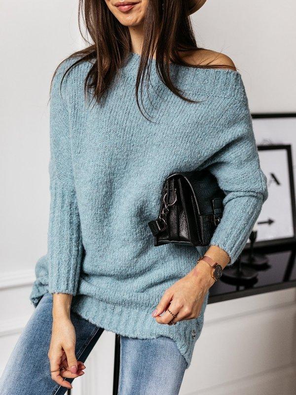 Sweter Tiempo Błękitny