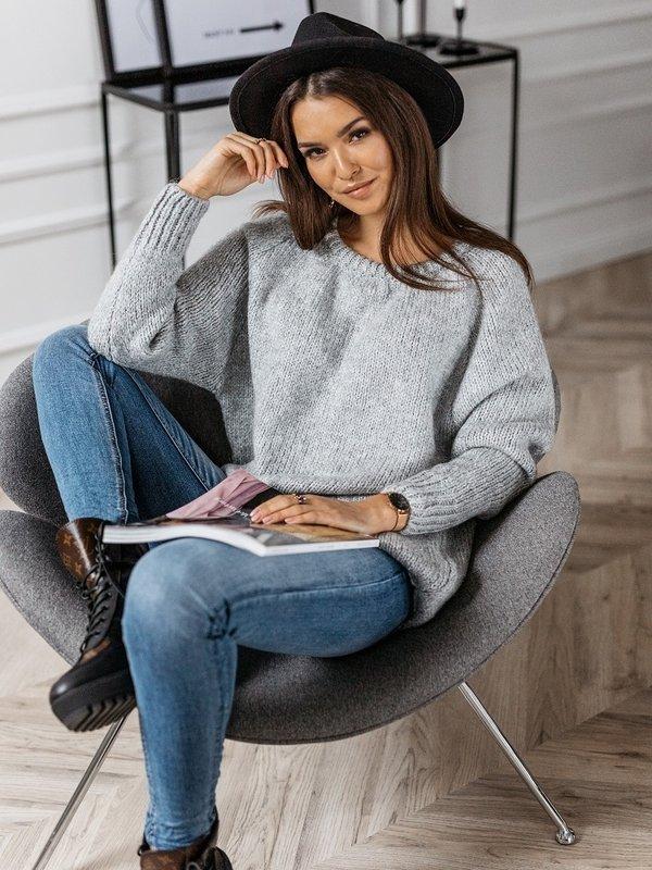 Sweter Ruline Szary