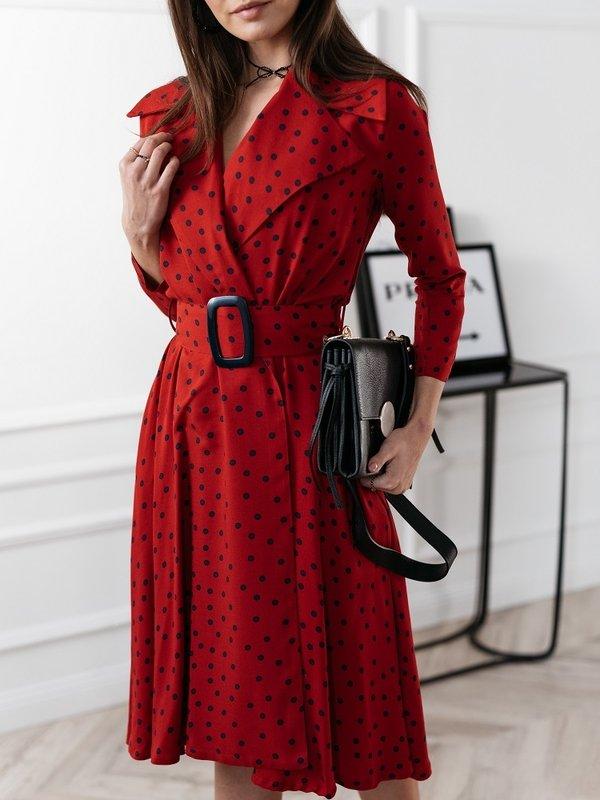 Sukienka Maroza Blue Czerwona