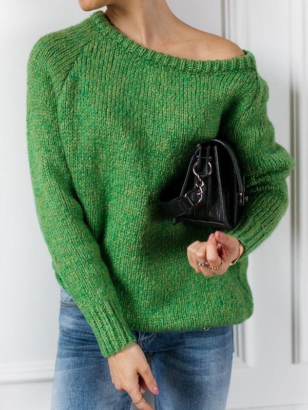 Sweter Plum Zielony