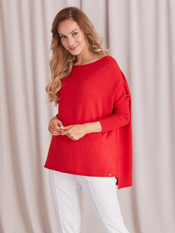 Sweter Morelle Czerwony