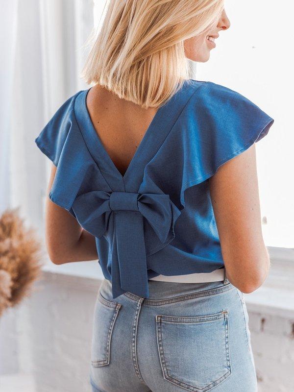 Bluzka Avi Niebieska