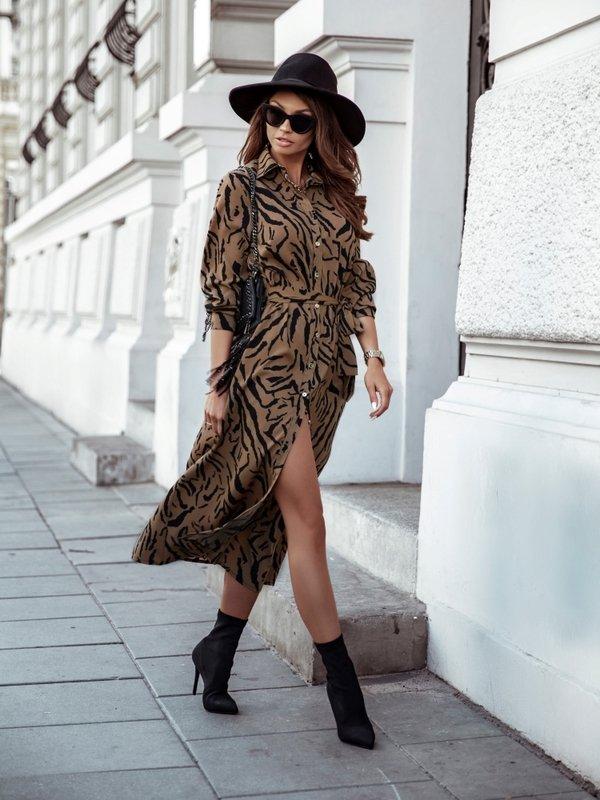 Sukienka Makuma Brązowa