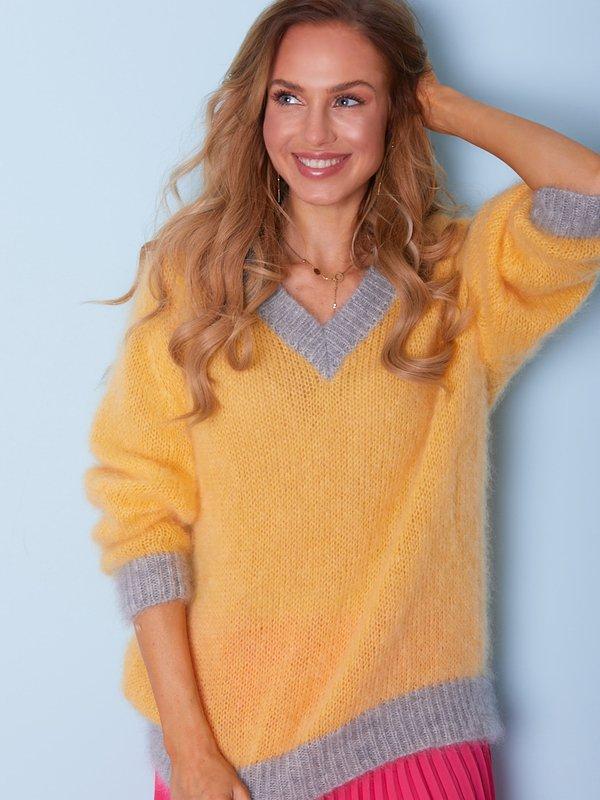 Sweter Beti Żółty
