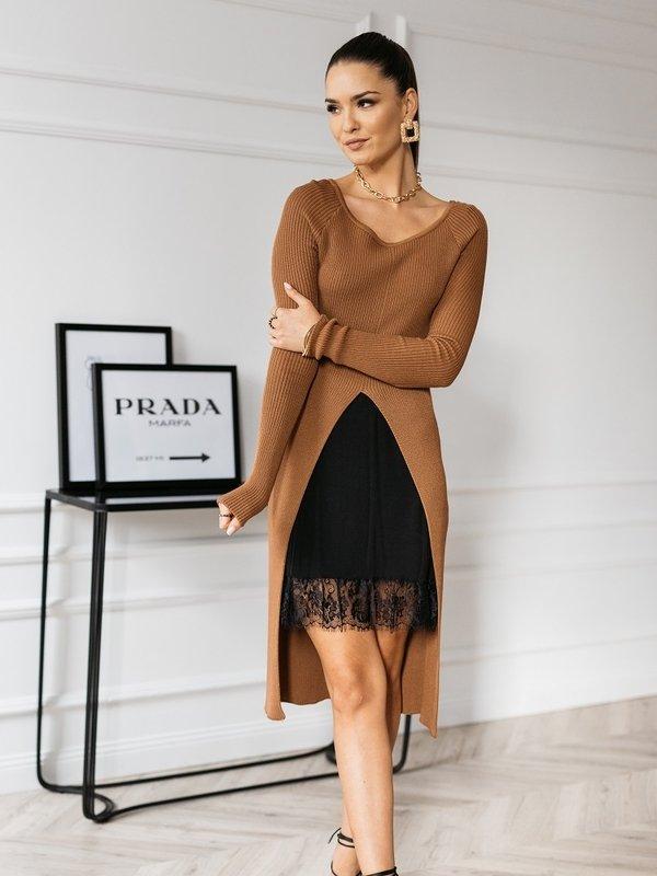 Sukienka Panama Brązowa