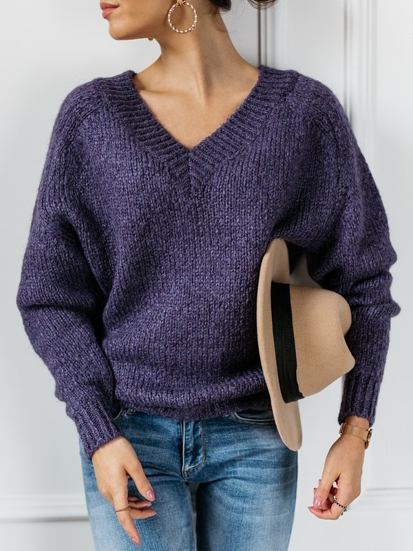 Sweter Fluffy Fioletowy