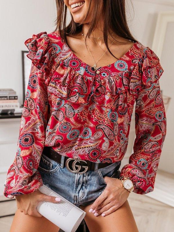 Bluzka Dalia Czerwona