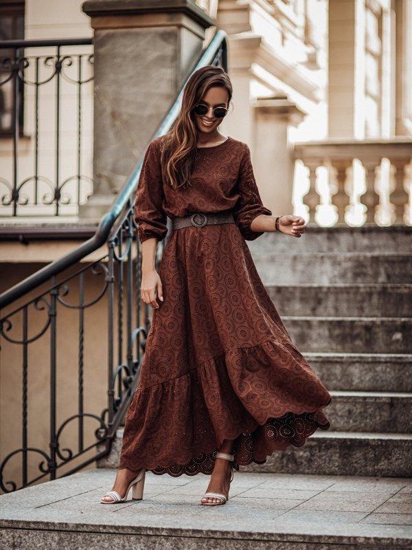 Sukienka Malaga Brązowa