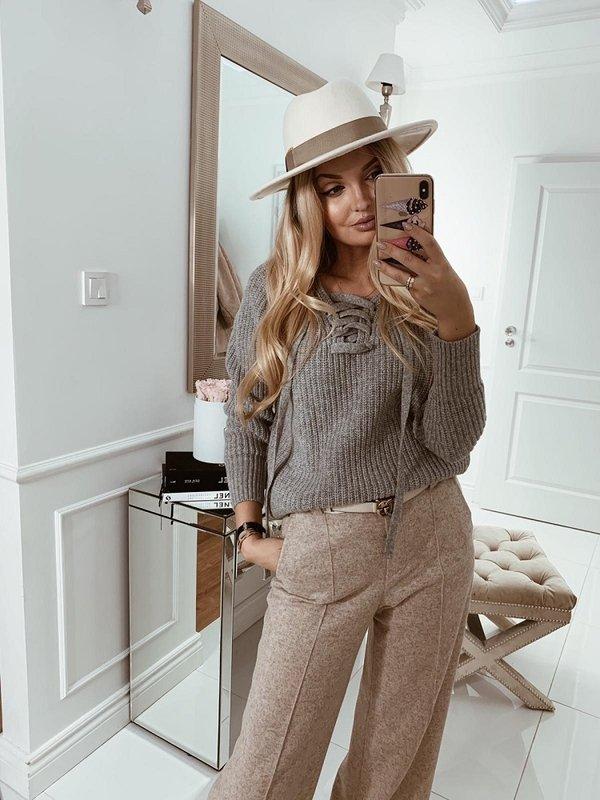Sweter Baliano Szary