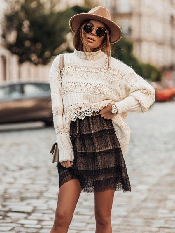 Sweter Maira Kremowy