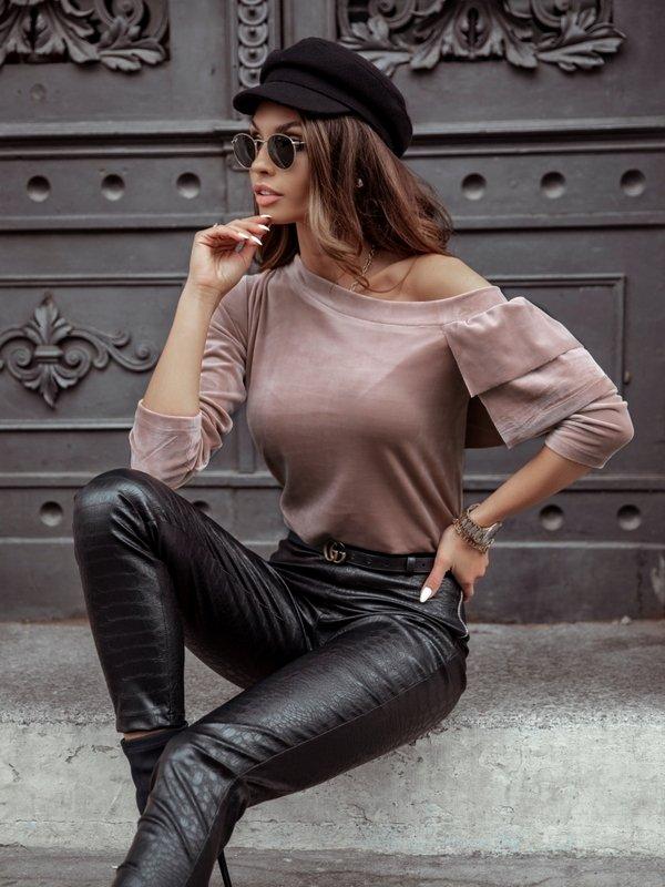 Bluzka Briselle Pudrowa