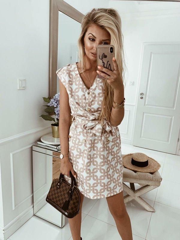 Sukienka Vivien Beżowa