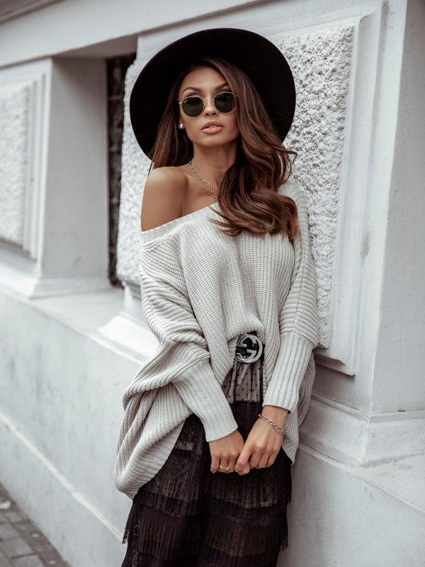 Sweter Hugo Beżowy