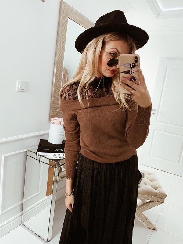 Sweter Marina Brązowy