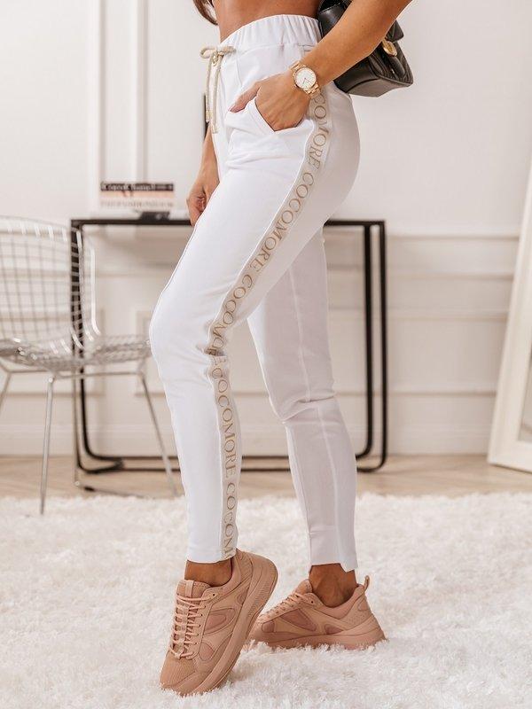 Spodnie Label Białe