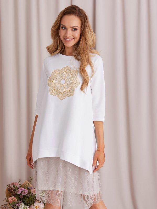Bluza Mandala Biała