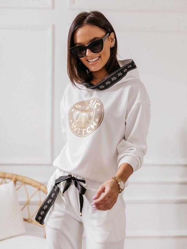 Bluza Basic Witch Kremowa