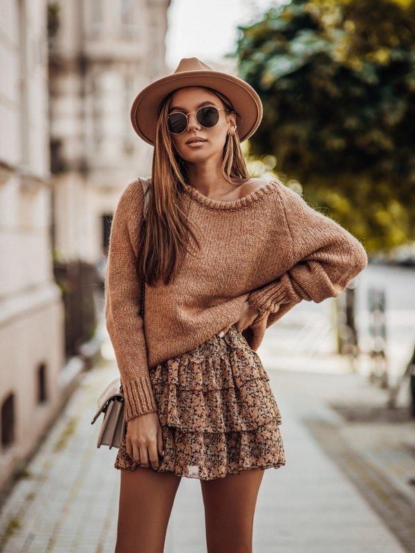 Sweter Dakota Brązowy
