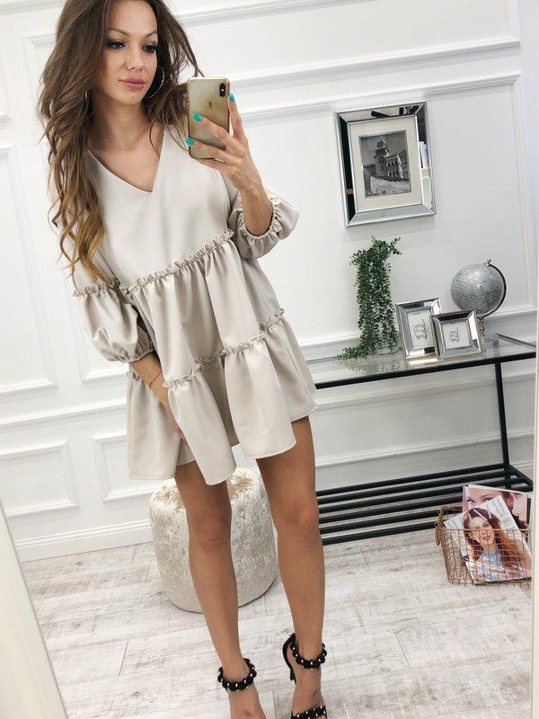 Sukienka R259 Beż