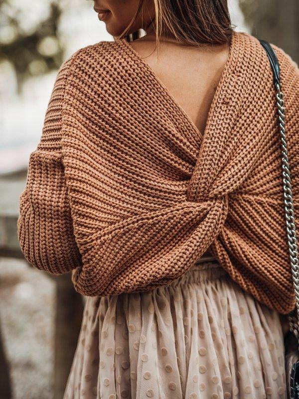 Sweter Manile Karmelowy
