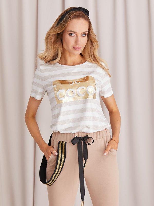 Bluzka Coco Gold Jasny Beż