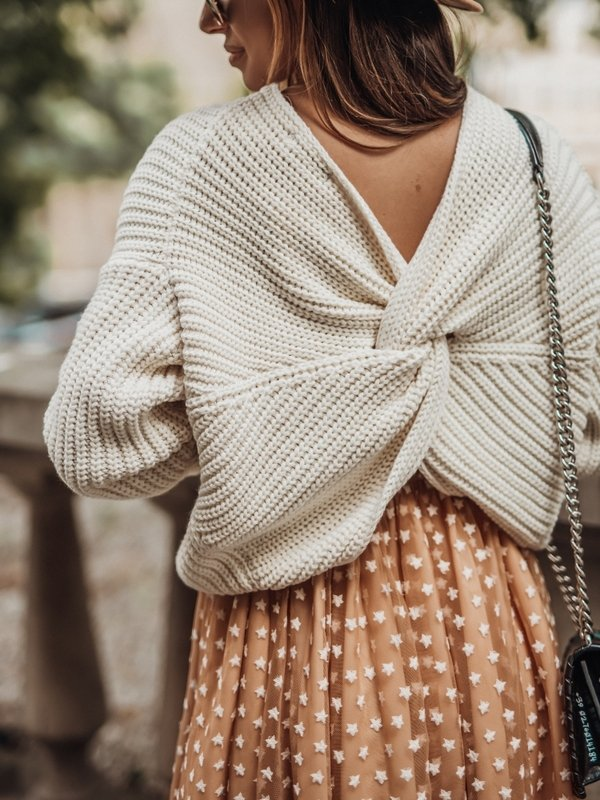 Sweter Manile Kremowy
