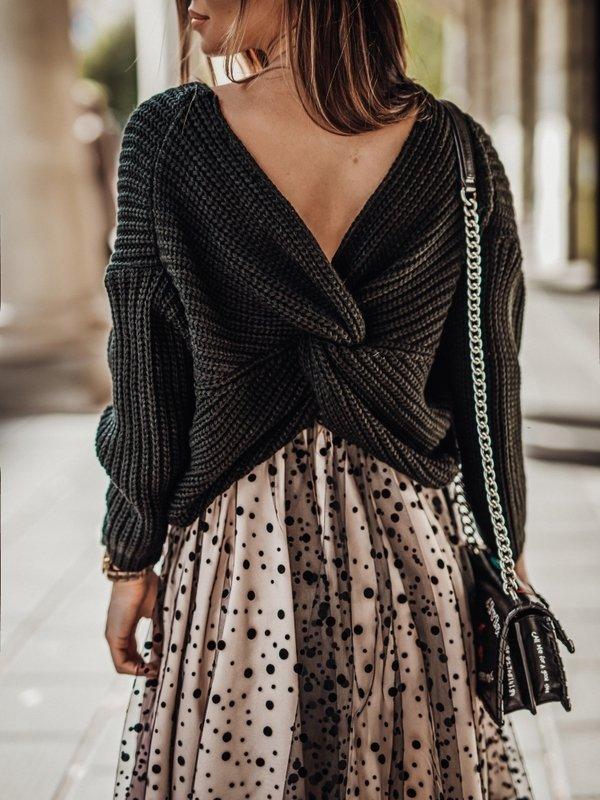 Sweter Manile Czarny