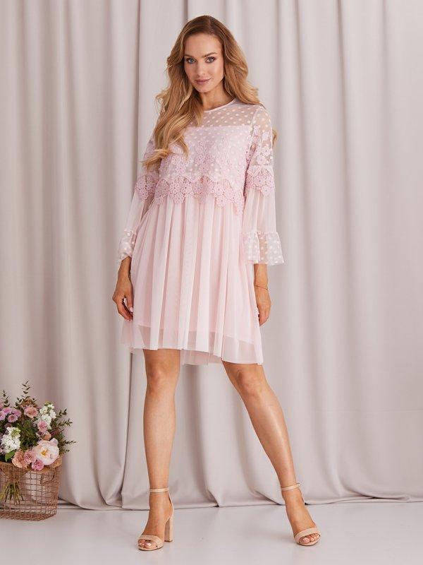 Sukienka Lyndia Pudrowa