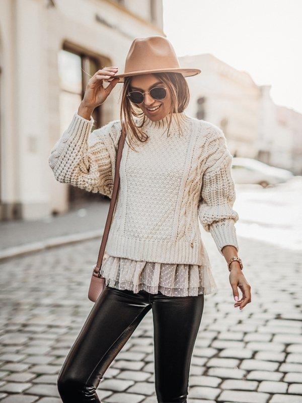 Sweter Princess Kremowy