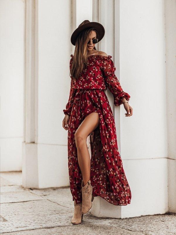 Sukienka Lagos Bordowa