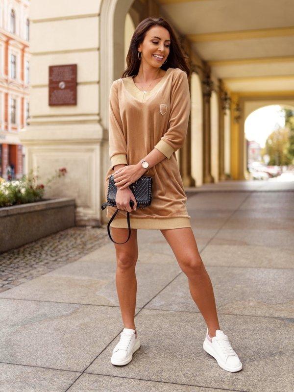 Sukienka Soft Karmelowa