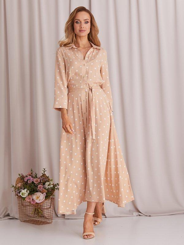 Sukienka Dotty Beżowa