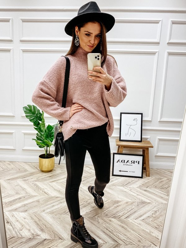Sweter Levrone Pudrowy