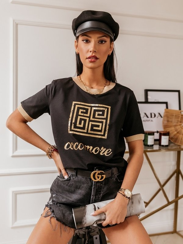 Bluzka Gold Label Czarna