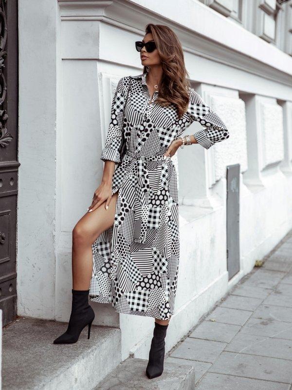 Sukienka Megan Dots Biała