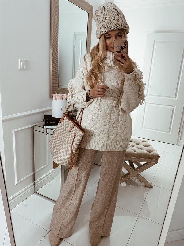 Sweter Cancun Kremowy