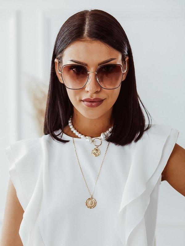 Okulary Sammie Brązowe