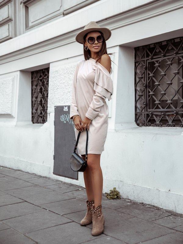 Sukienka Bombaj Beżowa
