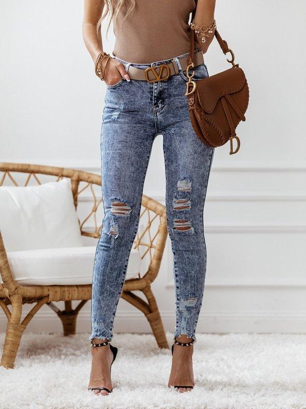 Spodnie Push Up Ripped Jeansowe