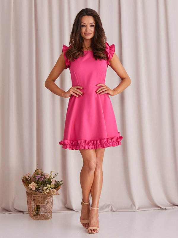 Sukienka Melisa Amarantowa
