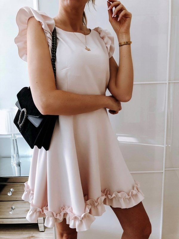 Sukienka Melisa Pudrowa
