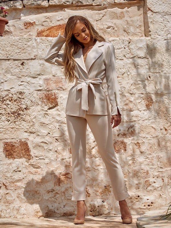 Spodnie Salome Beżowe
