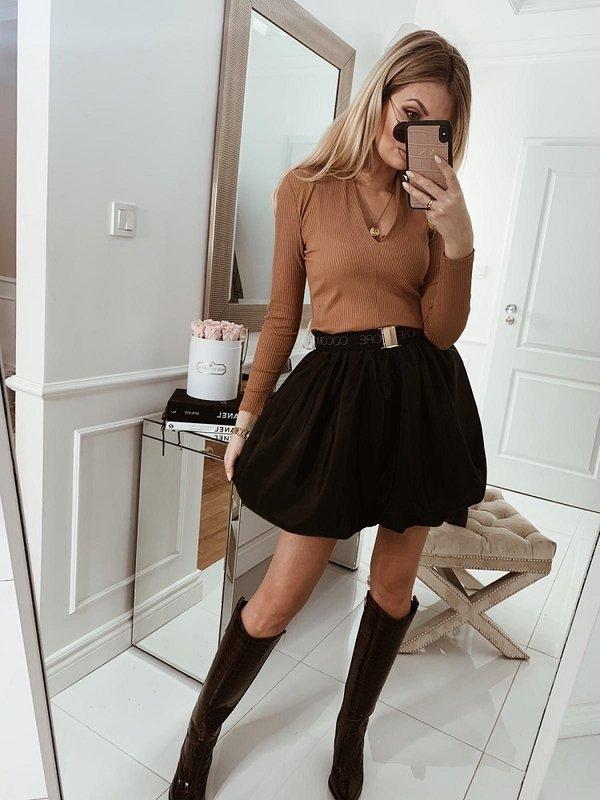 Sukienka Balane Karmelowa