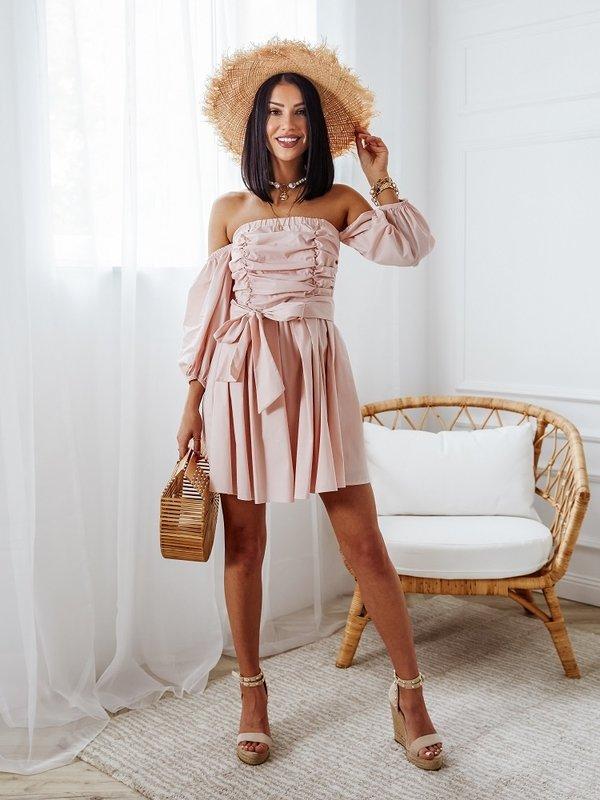 Sukienka Milly Pudrowa