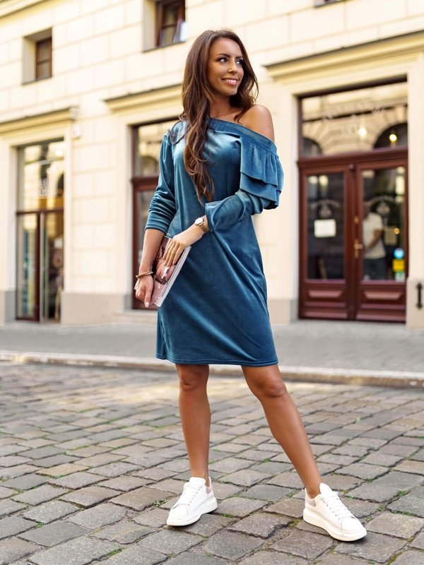 Sukienka Bombaj Niebieska
