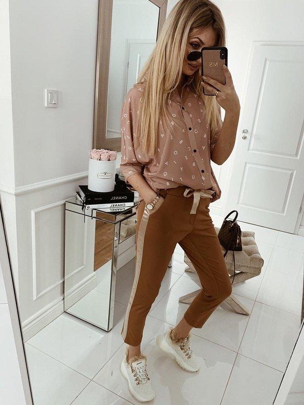 Spodnie Maylin Karmelowe